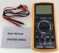 DT9205A LCD Digital Multimeter with Test Leads