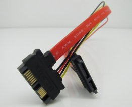 SATA 7+6 Pin Male to Female Power Data Cable